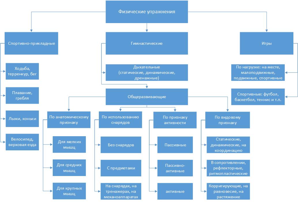 Классификация физических упражнений